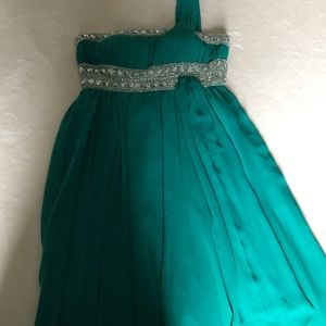 TEAL SHORT PROM DRESS!!